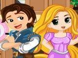Rapunzel lavar cozinha