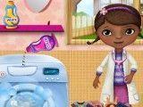 Doutora Brinquedos lavagem das roupas
