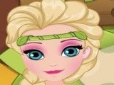 Elsa cuidar do ovinho do passarinho