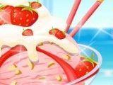 Receita de sorvete de creme com morango