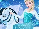 Vestir Elsa e o cavalo