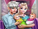 Jack e Elsa cuidar dos gêmeos e limpar casa