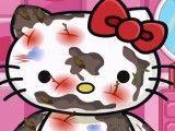 Hello Kitty no banho