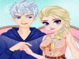 Elsa e Jack jantar vestir roupas