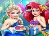 Decoração da festa de aniversário Ariel