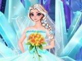 Vestido da noiva Frozen Elsa