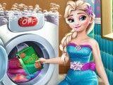 Lavar roupas da Elsa