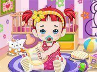 Vestir roupas na bebê fashion
