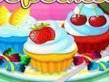 Fábrica de cupcakes coloridos