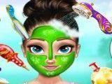 Anna grávida limpeza facial