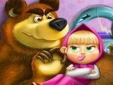 Masha e Bear brinquedos quebrados