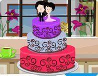 Decoração de bolo para casamentos