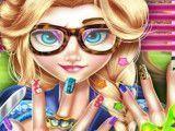 Pintar unhas da hippie Elsa