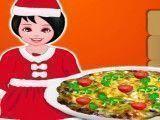 Fazer pizza natalina