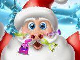 Papai Noel cuidar do nariz