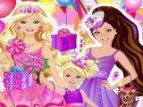 Aniversário da Barbie vestir roupas