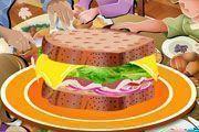 Decorar sanduíche de natal