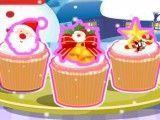 Receita de cupcakes natalino