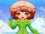 Garota roupa da neve