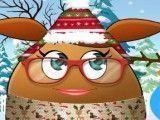 Pou menina decoração de Natal