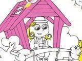 Pintar desenho das crianças na casinha