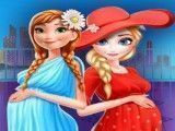 Grávidas Elsa e Anna shopping