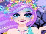 Sereia Elsa maquiagem do Halloween