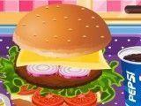 Fazer hambúrguer e fritas