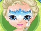 Bebê Barbie pintar rosto