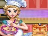 Elsa grávida fazer panquecas
