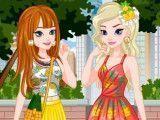 Elsa e Anna moda verão