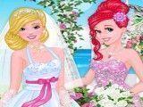 Ariel e Barbie noivas vestir