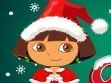Dora vestir roupas de natal