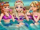 Princesas na piscina