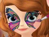Máscara facial da princesa Sofia