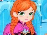 Anna Frozen curativo do pé