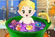 Banheira de espuma para bebê