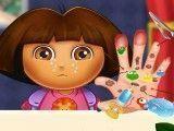 Dora cuidar da mão machucada