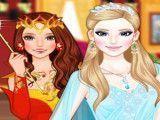 Princesas fogo e gelo