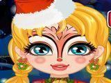 Pintar rosto da meninas no natal