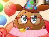 Decorar festa de aniversário da Pou menina