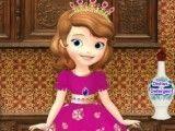 Princesa Sofia lavar louças e talheres
