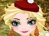 Elsa pintar rosto de Ação de Graças