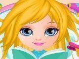 Bebê Barbie no cabeleireiro