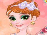 Anna Frozen maquiar e vestir roupas com glitter