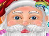 Papai Noel cuidar da barba