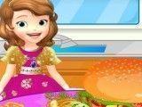 Princesa Sofia fazer hamburguer