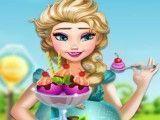 Elsa grávida fazer e decorar sorvete