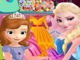 Elsa vender roupas e sapatos