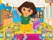 Vestir Dora na escola